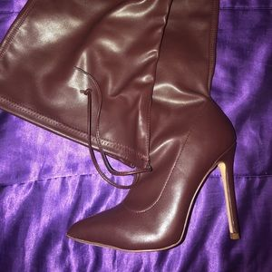 Shoes - Thigh high boots.